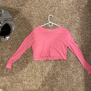 pink long sleeve croptop from garage